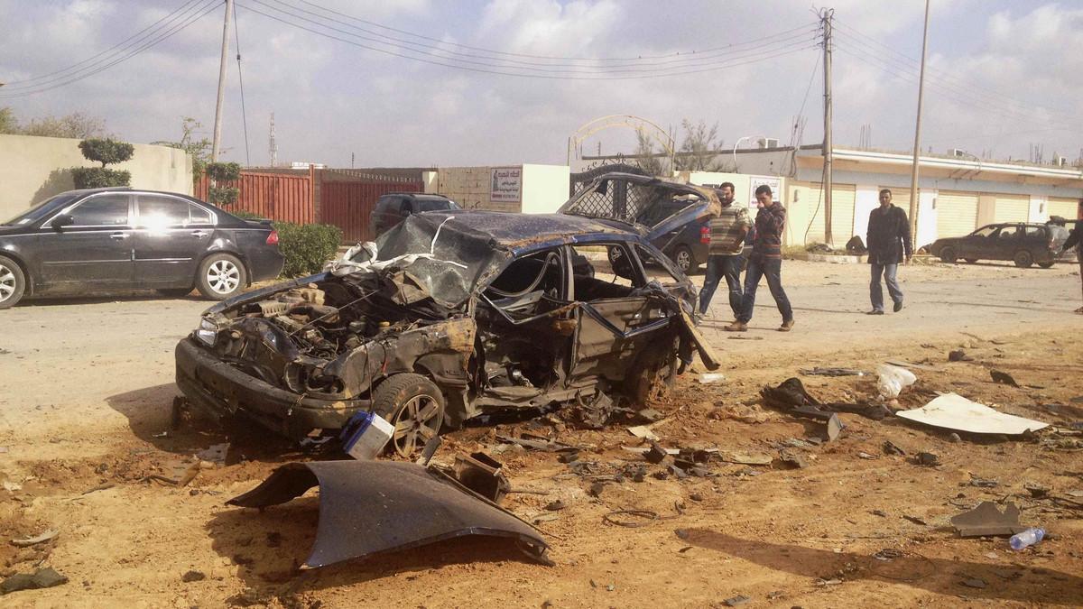 جانب من عمليات داعش في ليبيا