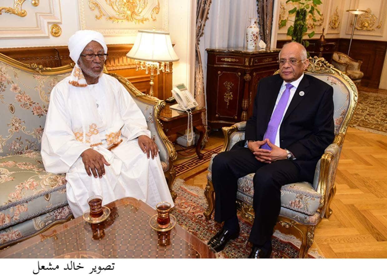 على عبد العال ورئيس المجلس الوطنى السودانى