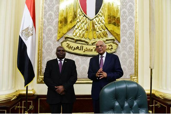 علي عبد العال ورئيس برلمان بوروندي