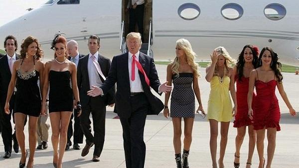 صورة تعبيرة لترامب مع أبرز السيدات اللاتي اتهمنه بالتحرش