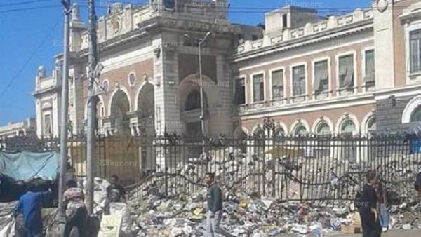 هدم محطة مصر بالإسكندريةةةةةةة