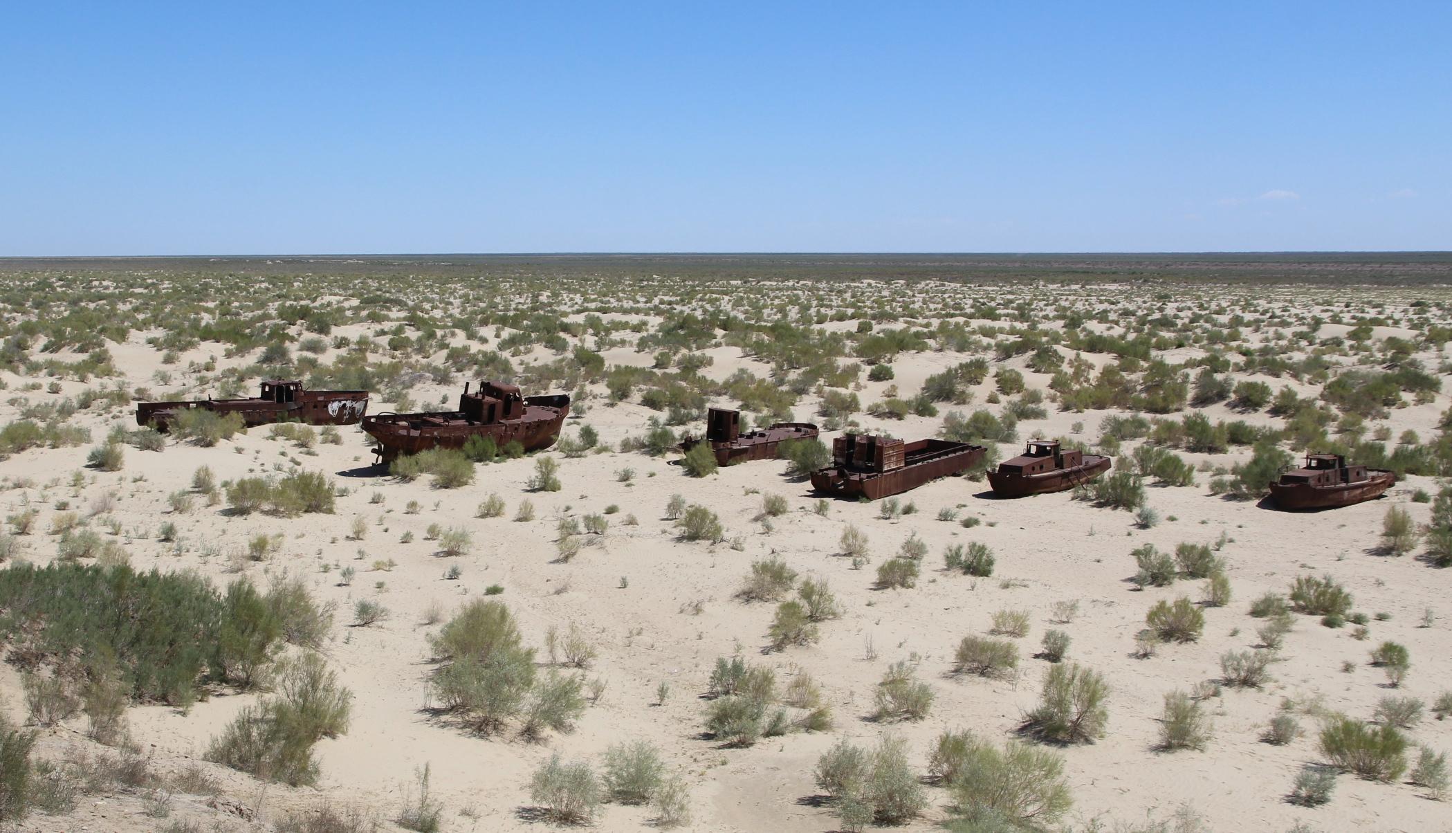 بحر آرل تحول إلى صحراء