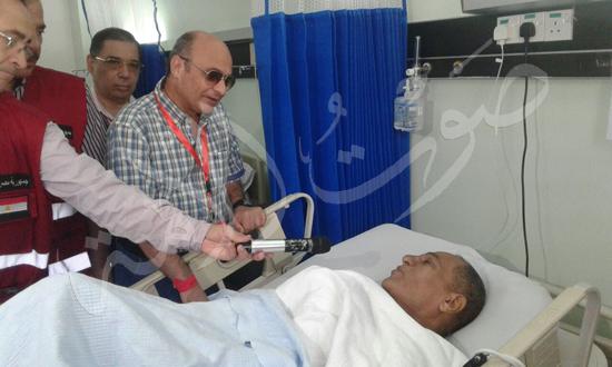 زيارة المستشار عمر مروان رئيس البعثة الرسمية للحجاج المرضى فى المستشفيات السعودية (1)