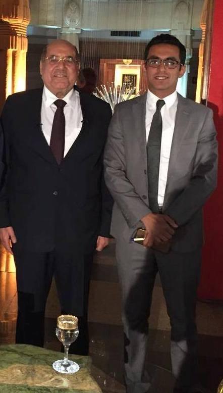 الزميل محمد أسعد في لقاء مع رئيس المحكمة الدستورية العليا السابق