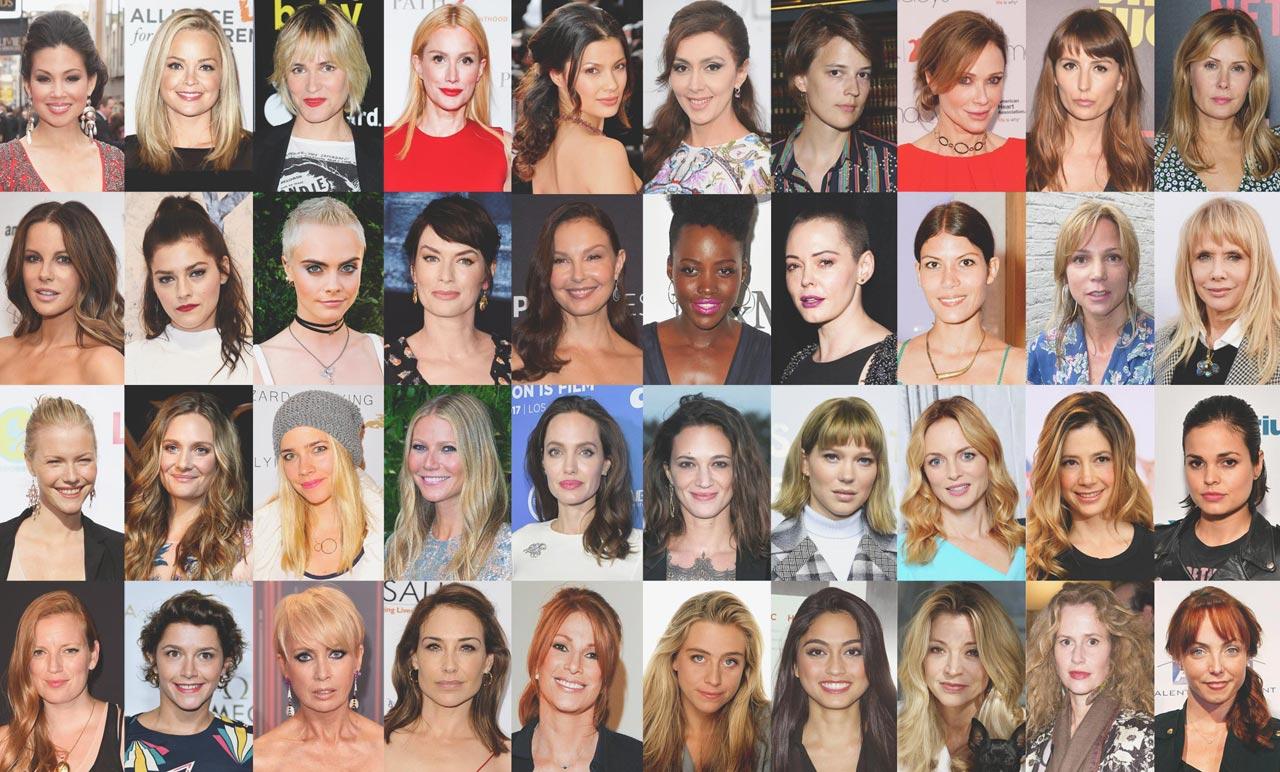 كل هؤلاء الممثلات فى الصورة اتهمن هارفى بالتحرش بهن