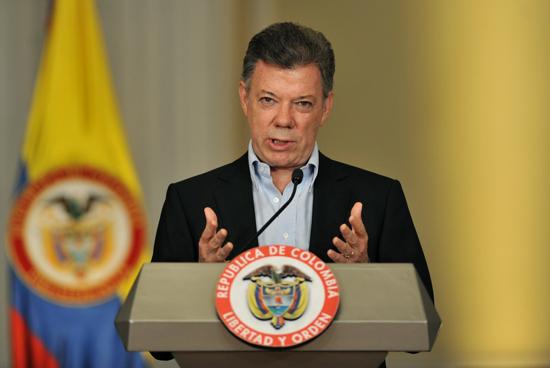 رئيس كولومبيا خوان سانتوس copy