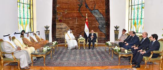 الرئيس عبد الفتاح السيسي والشيخ محمد بن زايد آل نهيان (8)
