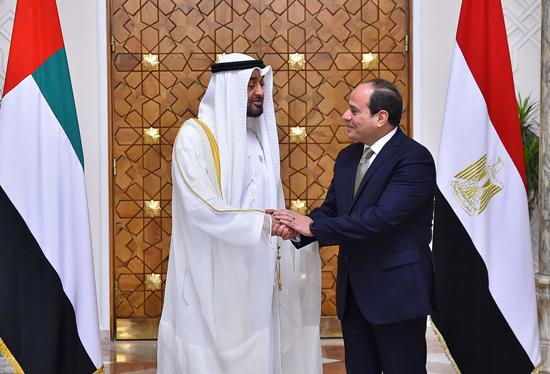 الرئيس عبد الفتاح السيسي والشيخ محمد بن زايد آل نهيان (4)