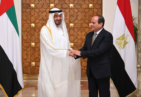الرئيس عبد الفتاح السيسي والشيخ محمد بن زايد آل نهيان (2)
