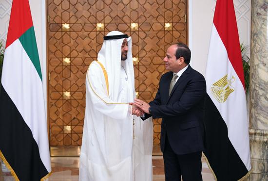 الرئيس عبد الفتاح السيسي والشيخ محمد بن زايد آل نهيان (1)