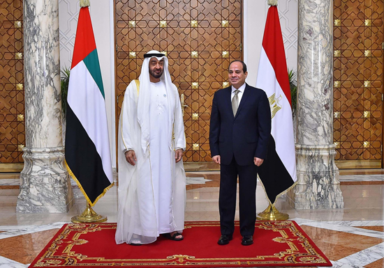 الرئيس عبد الفتاح السيسي والشيخ محمد بن زايد آل نهيان (3)