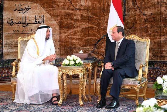 الرئيس عبد الفتاح السيسي والشيخ محمد بن زايد آل نهيان (7)