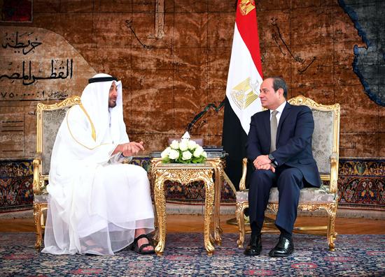 الرئيس عبد الفتاح السيسي والشيخ محمد بن زايد آل نهيان (5)