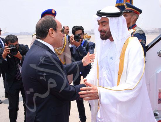 السيسى والشيخ محمد بن زايد آل نهيان  (7)