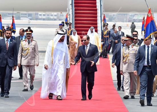 السيسى والشيخ محمد بن زايد آل نهيان  (2)