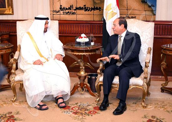 السيسى والشيخ محمد بن زايد آل نهيان  (1)