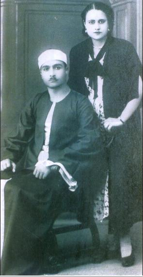 الشيخ مصطفى اسماعيل وزوجته