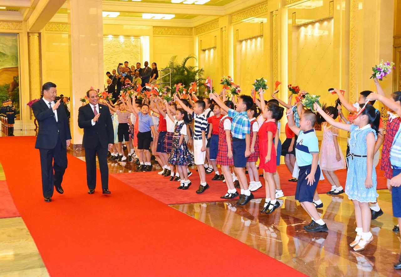 جانب من زيارة الرئيس السيسي إلى الصين