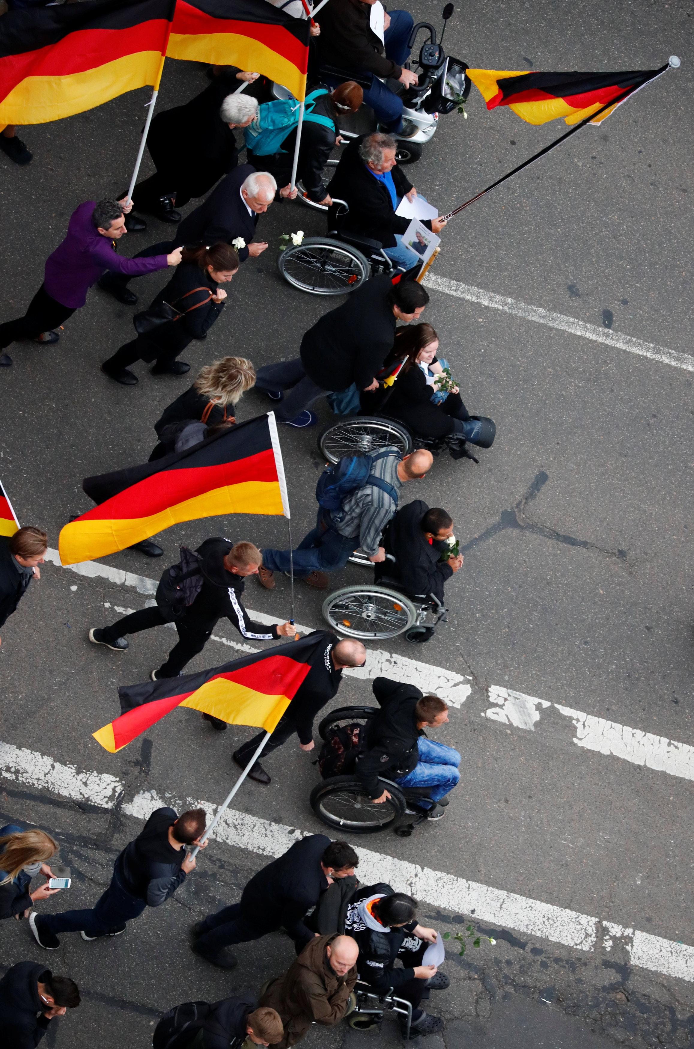 مظاهرات مناهضة للهجرة فى المانيا