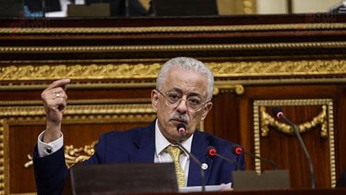 طارق شوقي في البرلمان