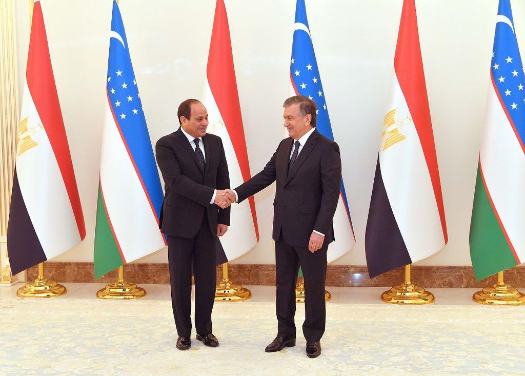 استقبال الرئيس السيسى فى اوزبكستان