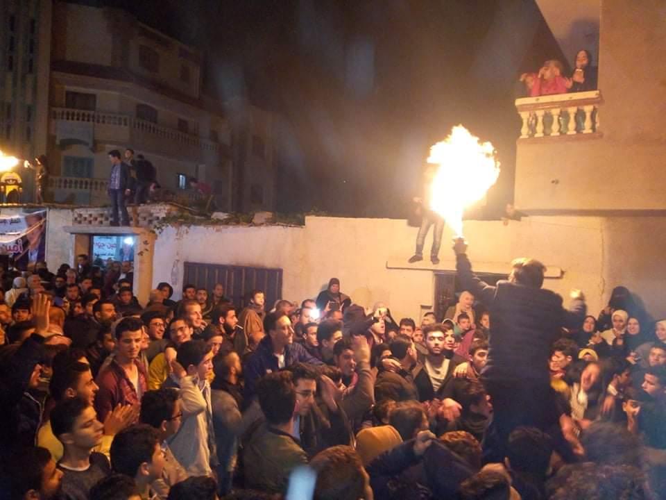 مسيرات فرح تجوب شوارع العريش احتفالا بفوز امين جودة بمقعد النواب (6)