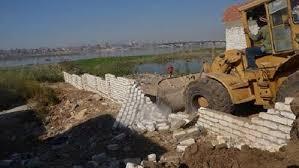 إزالة التعديات على النيل وأراضى الدولة
