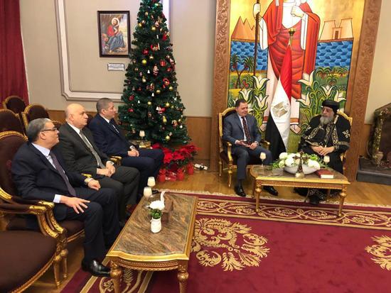 وزير الداخلية وقداسة البابا تواضروس الثانى (1)