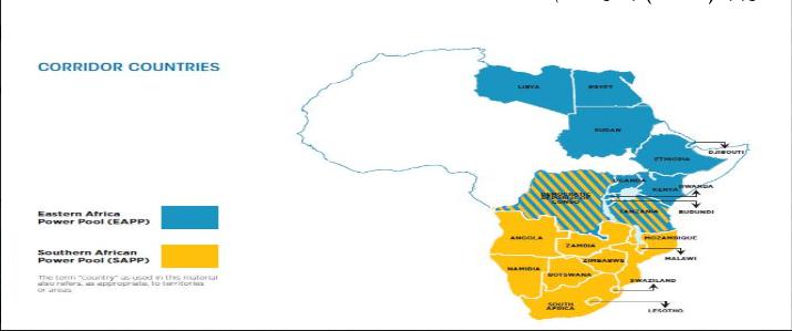 تمركز مصادر الطاقة في القارة
