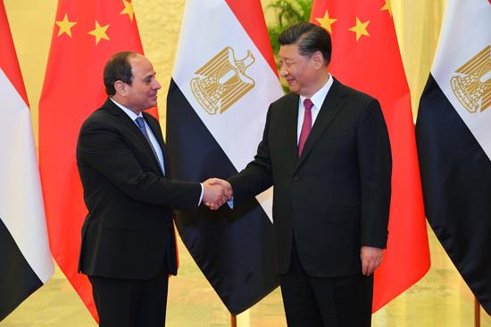 الرئيس عبد الفتاح السيسى والرئيس الصينى (3)
