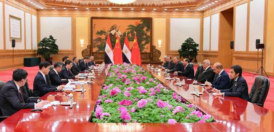 الرئيس عبد الفتاح السيسى والرئيس الصينى (5)
