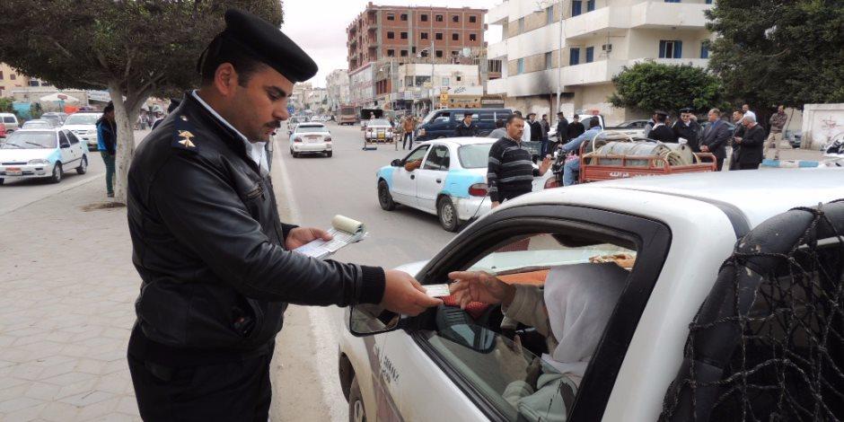 تحرير 1315مخالفة متنوعة خلال حملة مرورية في الإسماعيلية