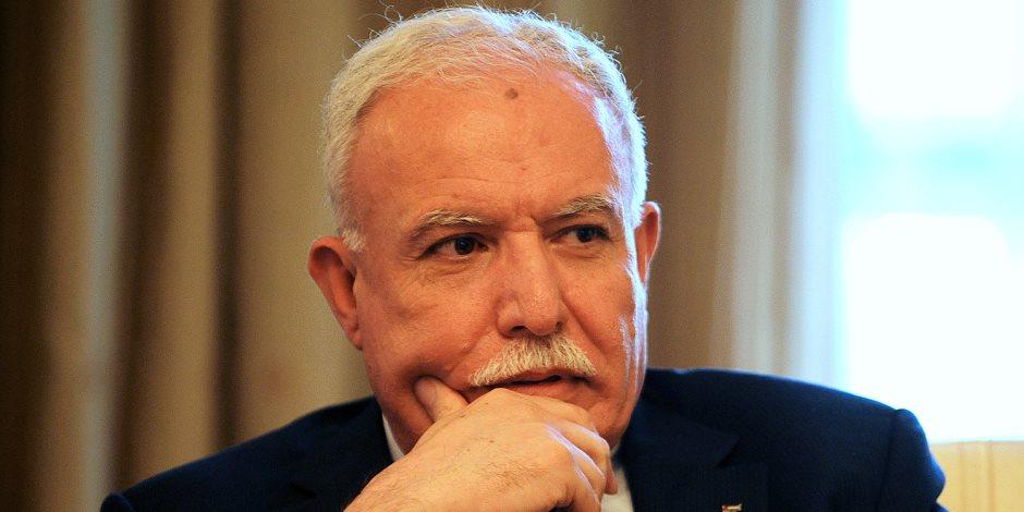 وزير الخارجية الفلسطينى يسلم ملف قضية الاستيطان إلى المحكمة الجنائية الدولية