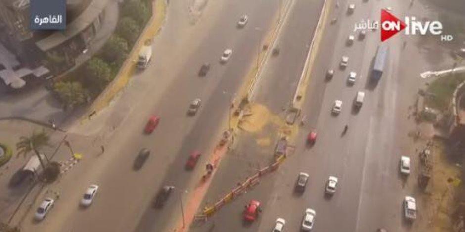النشرة المرورية.. سيولة وتراكمات لمياه الأمطار بالقاهرة والجيزة