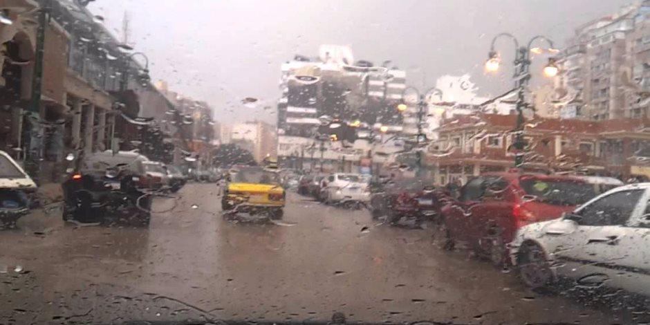 أمطار خفيفة علي الثغر غير مؤثرة علي الملاحة ببوغازي الإسكندرية والدخيلة