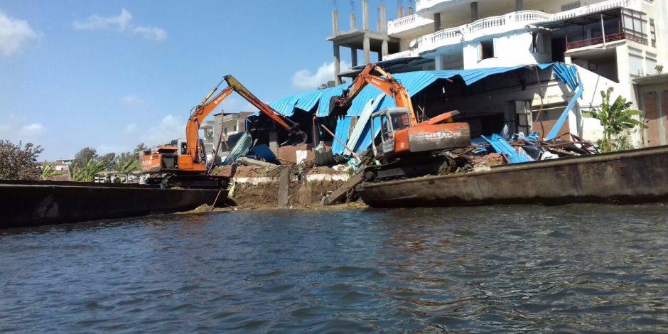 تنفيذ 12 قرار إزالة تعديات على النيل بالجيزة