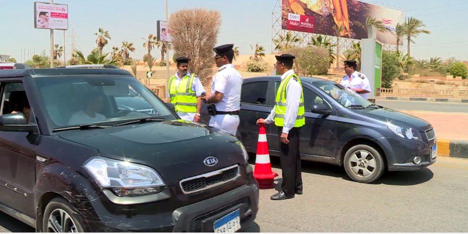 ضبط 8513 مخالفة متنوعة في حملة مرورية بالجيزة