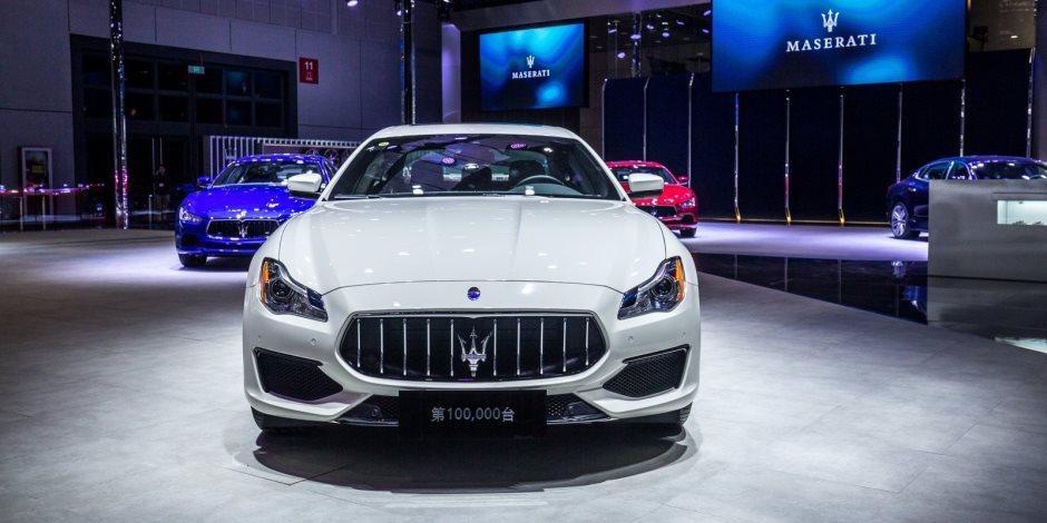 مازيراتي تحتفل بإنتاج 100 ألف سيارة في معرض شنغهاي