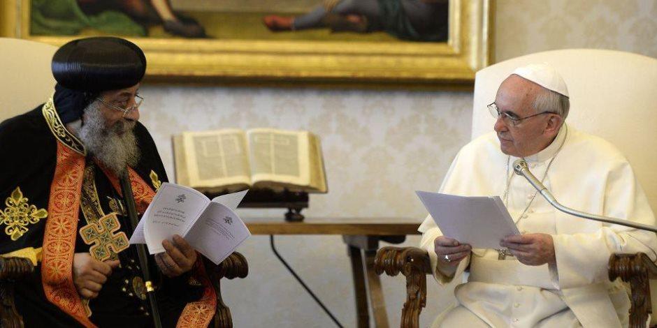 20 صورة تحكي قصة لقاء بابا الفاتيكان مع البابا تواضروس