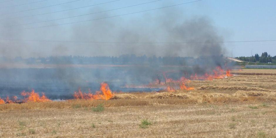 احتراق 22 قيراط قمح في حريقين منفصلين بالمنشأة ومركز سوهاج