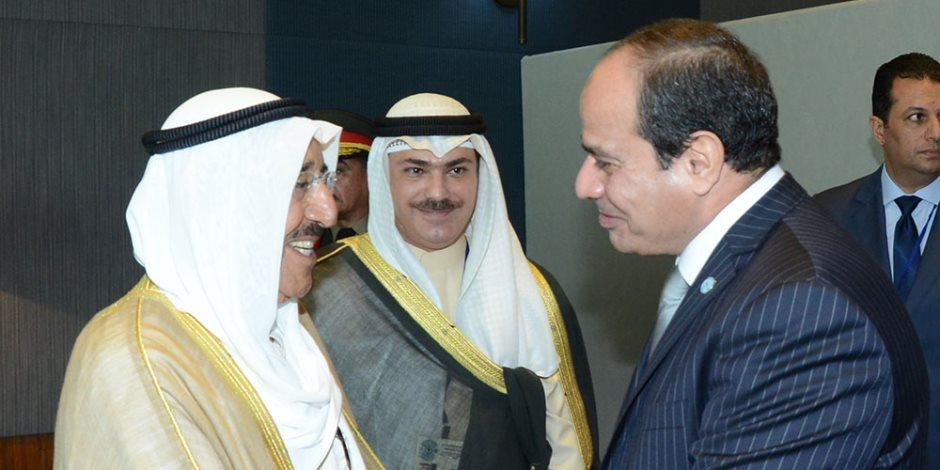 السيسي يجري اتصالا هاتفيا بأمير الكويت للتهنئة بعيد الفطر