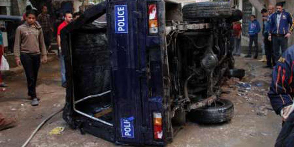 إصابة عميد شرطة فى انقلاب سيارة على الطريق الصحراوى بالمنيا