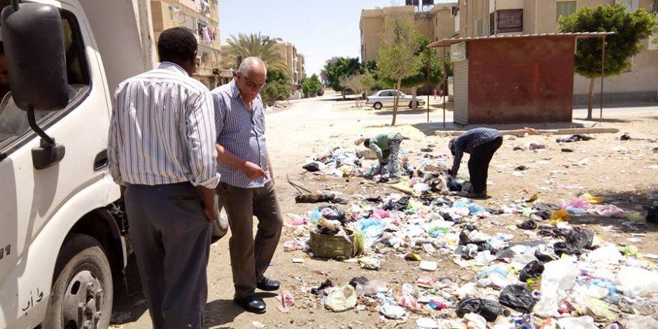 استحداث خط جديد بمصنع تدوير القمامة لمضاعفة إنتاج السماد بمنوف