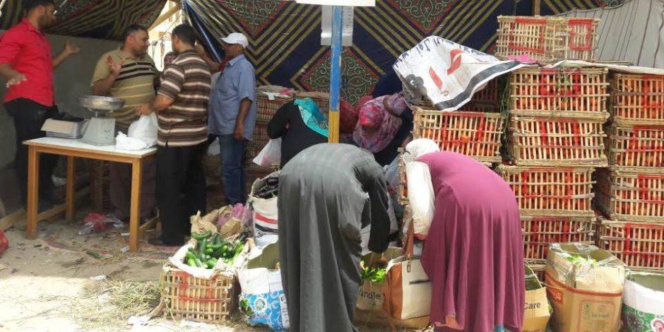 تخفيضات على أسعار الخضروات والفاكهة تصل 30% بمعرض «أهلا رمضان» بكفر الشيخ