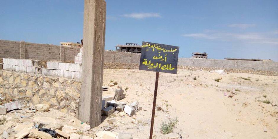 استرداد 111 قطعة من أراضي الدولة بالعريش وتقنين 26 حالة بالفواخرية (صور)
