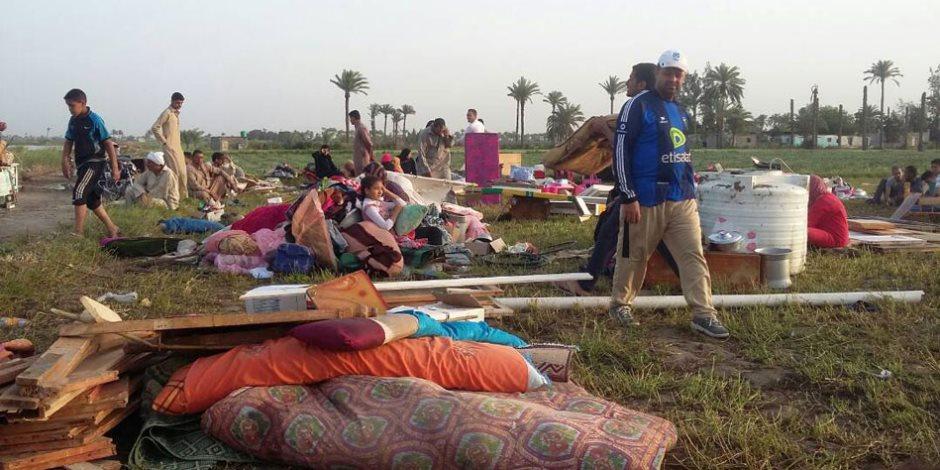 هنام فين؟.. عشش بديلة لأسر «المناجاة» في ملاحات الشرقية بعد إزالة منازلهم (صور)