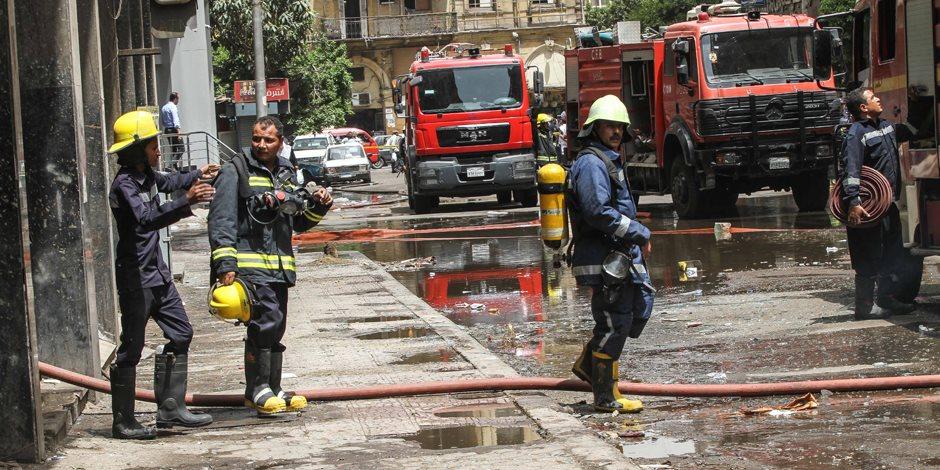 الحماية المدنية تخمد حريق شقة بدار السلام