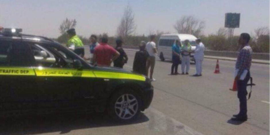 الإدارة العامة لمرور الجيزة تضع كاميرات لمراقبة حركة السيارات بالطريق الصحراوي