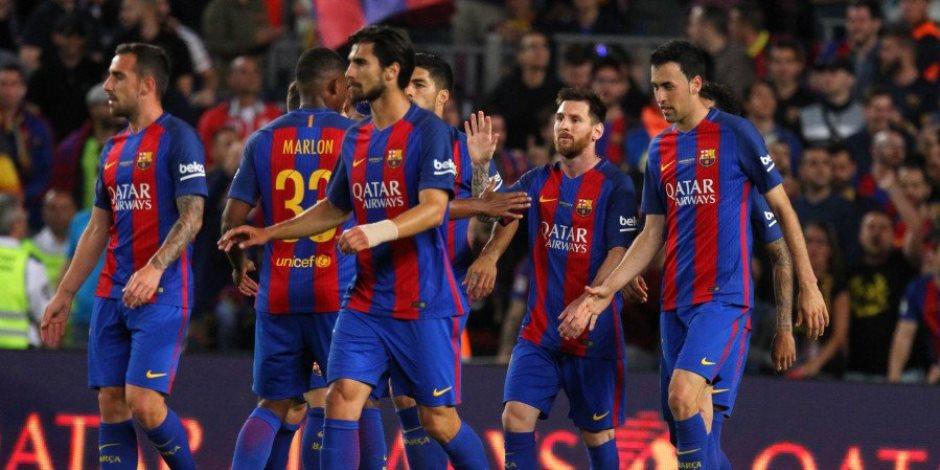 بالفيديو. برشلونة ينهى الدوري الإسباني برباعية في إيبار