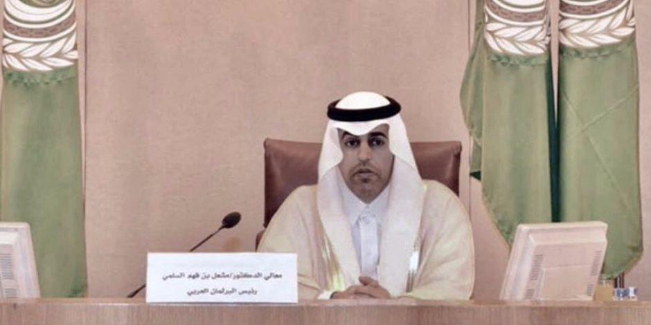 رئيس البرلمان العربي يهنئ فخامة الرئيس عبد الفتاح السيسي بمناسبة إعادة انتخابه رئيساً لجمهورية مصر العربية